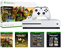 Xbox One S 1TB Console - Minecraft Creators Bundle: 1TB Xbox One S Console, Wireless Controller, Full Game Download of Minecraft, Minecraft Starter, Creators Pack, 1000 Minecoins, Deluxe Bundle