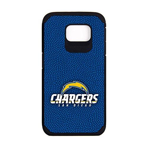 (NFL San Diego Chargers Football Pebble Grain Feel Samsung Galaxy S6 Case, Team Color)
