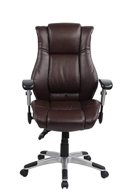VO Furniture High Back Executive Chair Bonded Leather Adjustable Desk  Office Chair Swivel Comfortable Rolling