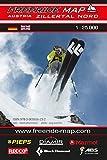 Freeride Map Zillertal Nord: Maßstab 1:25 000