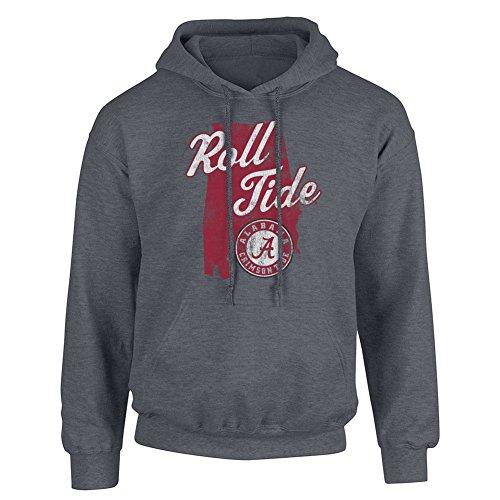 - Elite Fan Shop Alabama Crimson Tide Hoodie Sweatshirt Charcoal - XL