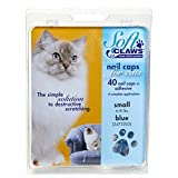 Soft Claws Feline Cat Nail Caps Take-Home Kit, Small, Blue