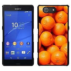 EJOY---Cubierta de la caja de protección para la piel dura ** Sony Xperia Z3 Compact ** --Naranja Macro Frutas Tropicales