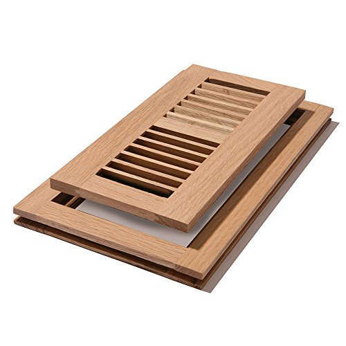 Tile Floor Register Louvered Wood Design Designed To Lay Flat With The Surface Of The Wood Flooring Provides Two Way Diffusion And Is The Preferred Style For Sand And Finish Red Oak Wood Unfinished