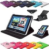 Etui de protection 360° en simili-cuir pour tablette Samsung Galaxy Note 10.1 modèles N8000 N8010 N8020  - noir