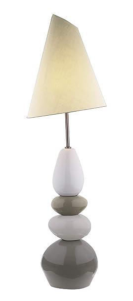 Meubletmoi Lampe De Sol Décoration Galets Taupe Beige