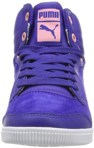 Puma Glyde court Jr 355273 Mädchen Sneaker Blau (spectrum blue-puma peach 05)