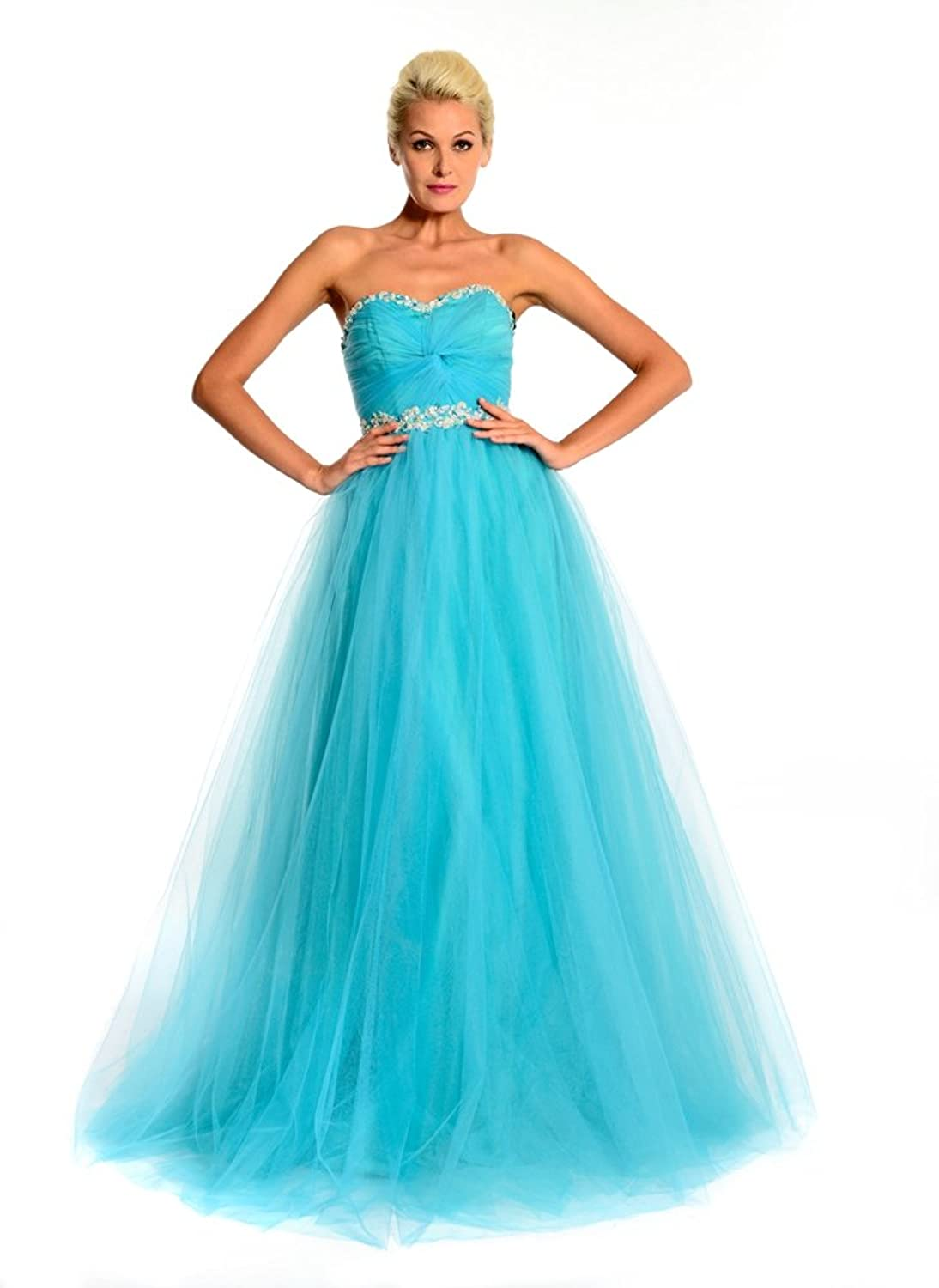 Amadeo Sweetheart Tulle Ball Gown Evening Dresses LF078