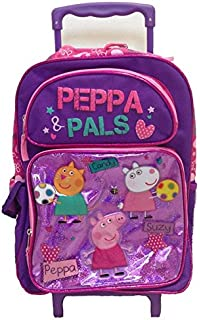 New Peppa Pig Candy-suzy Large Rolling Backpack