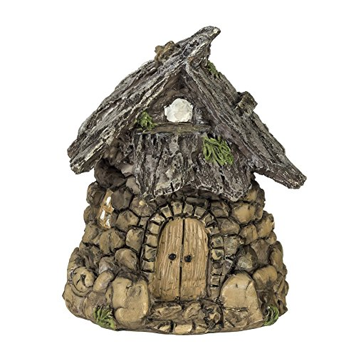 Darice Miniature Enchanted Cottage Gnome Hobbit Fairy Stone House Brown Green One size