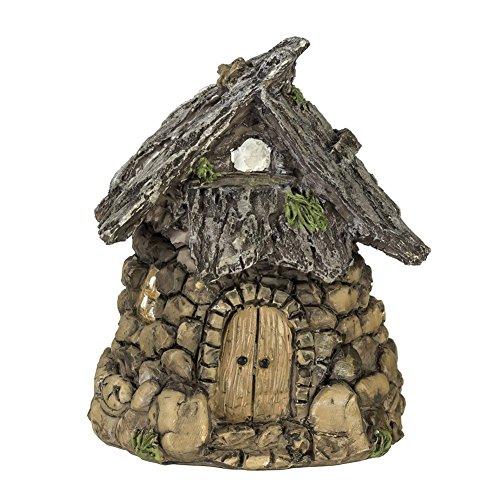 Miniature Enchanted Cottage Gnome Hobbit Fairy (Stone - The Street Market Woodlands
