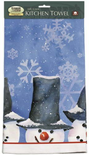 Fiddler's Elbow Snowman Christmas Holiday Kitchen Towel (953)