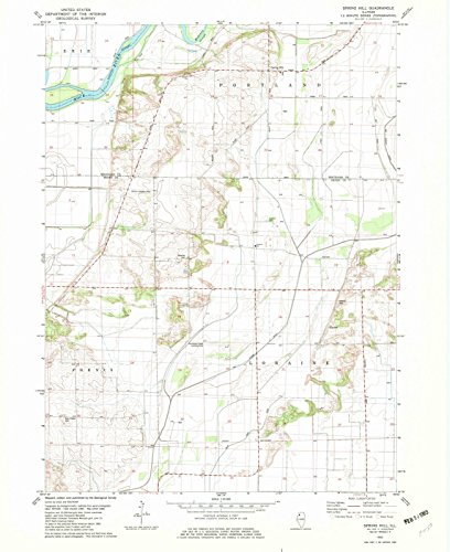 Illinois Maps | 1982 Spring Hill, IL USGS Historical Topographic Map |Fine Art Cartography Reproduction - Hill Illinois Spring
