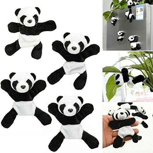 Cute Soft Plush Panda Fridge Magnets 4 Pcs Set DIY Decoration for Kitchen Home Decoration Kids Locker DIY Decoration Office Classroom Holiday -