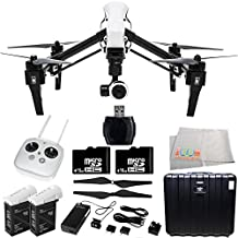 DJI Inspire 1 EVERYTHING YOU NEED Kit. Includes 2 DJI TB47 Intelligent Flight Batteries + DJI 1345 Self-Tightening Props + 2 SanDisk Extreme 16GB microSDHC Memory Cards with Adapter (SDSQXNE-016G-GN6MA) + High Speed Memory Card Reader + MORE