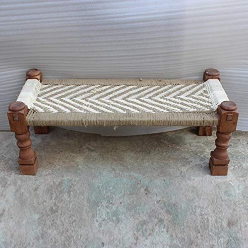 Clay Handi Solid wood Handmade Wooden Charpai Bed