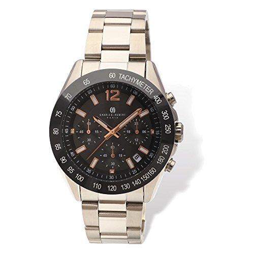 Jewelry Adviser Charles Hubert Watches Mens Charles Hubert Black Dial Chronograph Watch