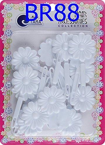 Tara Girls Self Hinge Plastic Bow Hair Barrettes Selection (BR88)