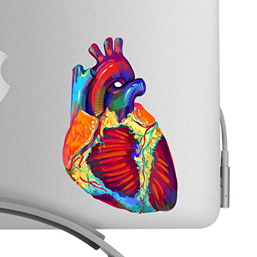 Beautiful Human Heart Artistic Full Color Post Impressionist Painted Style 5 Inch Decal -Fits All MacBooks or Any Laptop-For Indoor or Outdoor Use]()