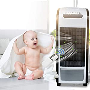 Portable Multi Functional Air Conditioner Fan, Elevin(TM) 4 in 1 Air Cooler Green with Remote Control Fan Humidifier and Air Freshener