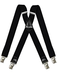Mens Suspenders X Style Very Strong Clips Adjustable One Size Fits All