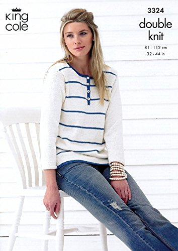 King Cole Ladies Tops Bamboo Cotton Knitting Pattern 3324 DK