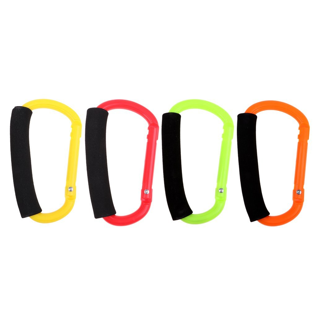 Homyl 4pcs Outdoor Sports Roller Skates Shoes Holder Carrier Buckle Multi-use Skating Shoes Handle Hook for Ice Boots Snow Walking Shoes
