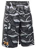 Under Armour Boys' UA Eliminator Printed Shorts, Graphite/Radiate, YS