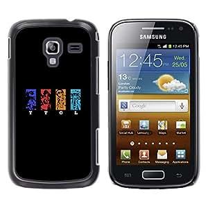 A-type Arte & diseño plástico duro Fundas Cover Cubre Hard Case Cover para Samsung Galaxy Ace 2 (TTGL)
