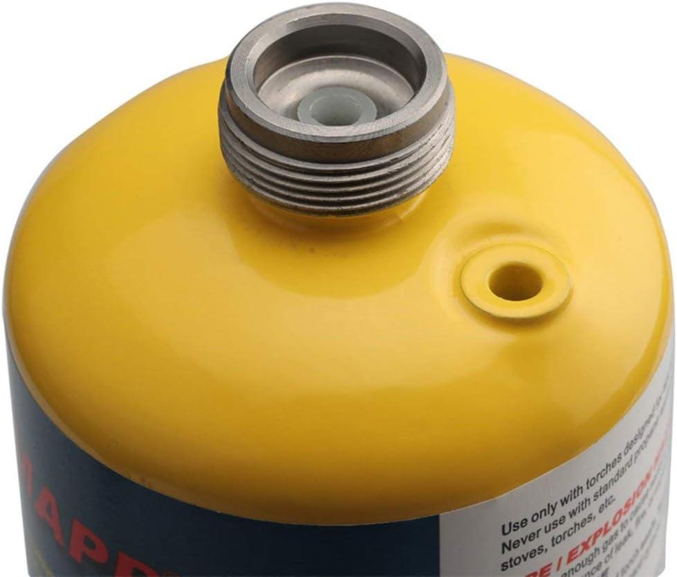 Adaptateur de torche /à gaz Lindal Valve Canister to 1L Green R/éservoir de propane ou convertisseur de gaz MAPP Adaptateur de camping en plein air Br/ûleur Adaptateur gris