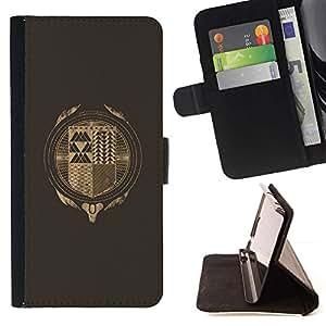 Momo Phone Case / Flip Funda de Cuero Case Cover - Hipster Resumen;;;;;;;; - Samsung Galaxy E5 E500