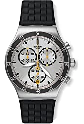 Swatch Men's Irony YVS420 Black Rubber Quartz Watch