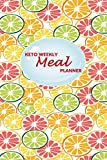 Keto Weekly Meal Planner: 52 weeks of Food Menu Planning with Grocery Shopping List, Recipe pages | Half Oranges Print