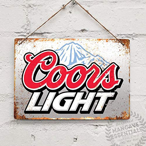 (Coors Light Replica Vintage Tin Sign Metal Sign TIN Sign 7.8X11.8 INCH)