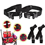 LUCA Extendable Straps for Collapsible Folding Outdoor Utility Wagon(1.5 in W x 40~60 ft L) Utility Accessories (Black)