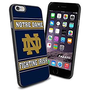 NCAA Notre Dame Fighting Irish iPhone 6 4.7 inch Case Black Rubber Cover Protector