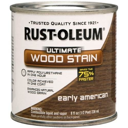Rust-Oleum 260361 Ultimate Wood Stain, Half Pint, Early American