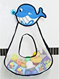 KPT Cute Baby bath toy organizer Storage Bag Drying Mesh Bag (Whale)