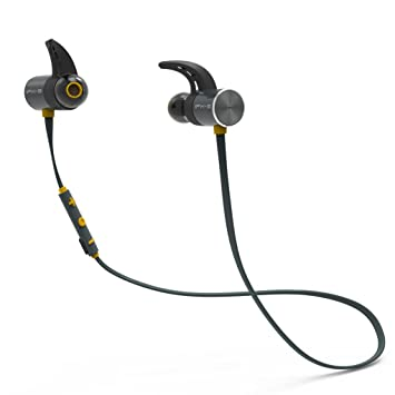 Auriculares Bluetooth, Smart Magnet Switch Auriculares Deportivos Inalámbricos W / Mic Waterproof HD Stereo Sweatproof Auriculares Internos Para Gimnasio ...