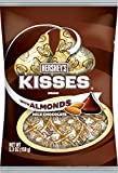 HERSHEY'S Kisses Chocolate Candy with Almonds, 5.3 Ounce (Pack of 12)