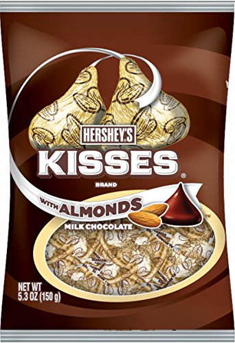 HERSHEY'S Kisses Chocolate Candy with Almonds, 5.3 Ounce (Pack of 12) by Kisses