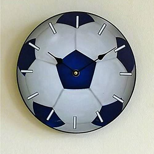 Reloj de pared para niños chicos y chicas de balón de fútbol duo ...