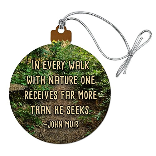 GRAPHICS & MORE in Every Walk with Nature John Muir Wood Christmas Tree Holiday Ornament