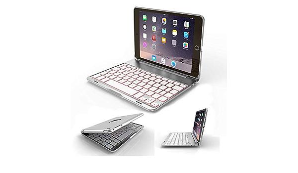 Funda de Teclado para iPad Mini 4, 7 Colores retroiluminados ...