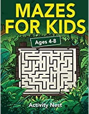 Mazes For Kids Ages 4-8: Maze Activity Book   4-6, 6-8   Workbook for Games, Puzzles, and Problem-Solving