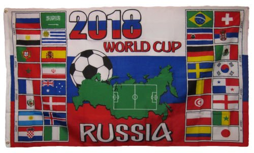 Moon 3x5 International World Cup 2018 Russia Soccer Sports F