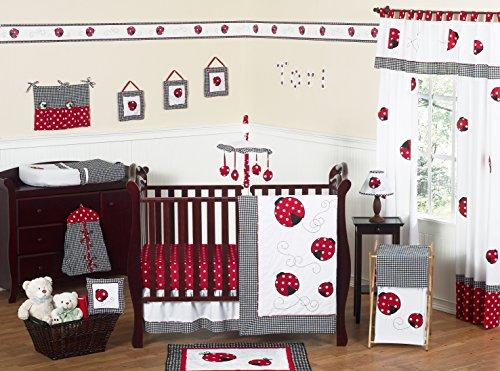 Ladybug Hamper Set (Sweet Jojo Designs 11-Piece Red and White Polka Dot Ladybug Baby Girl Bedding Crib Set Without Bumper)