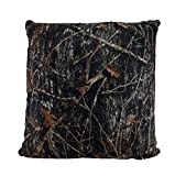Zeckos Polyester Throw Pillows Brown Mc2 True Timber Camo Sherpa Microfiber 18 in. Throw Pillow 18 X 18 X 7 Inches Brown