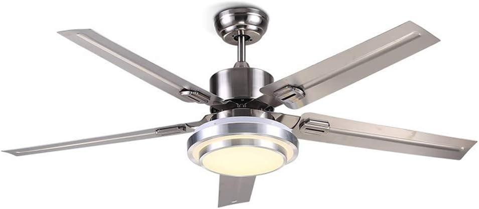La luz simple del ventilador de techo de acero inoxidable, el ...