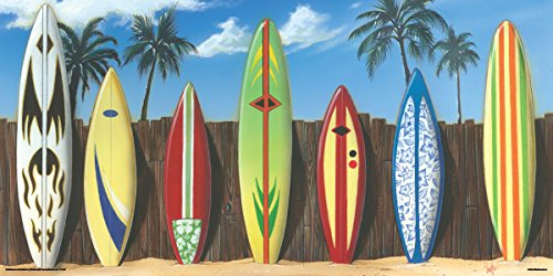 Culturenik Scott Westmoreland Starting Lineup Surf Boards Surfing Decorative Art Print (Unframed 12x24 Poster)